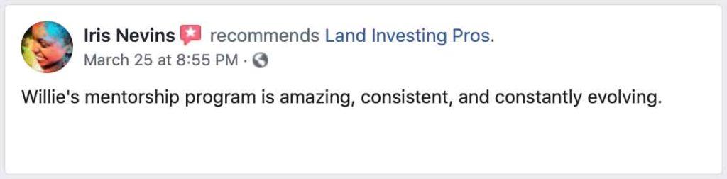 Iris Nevins' Facebook review